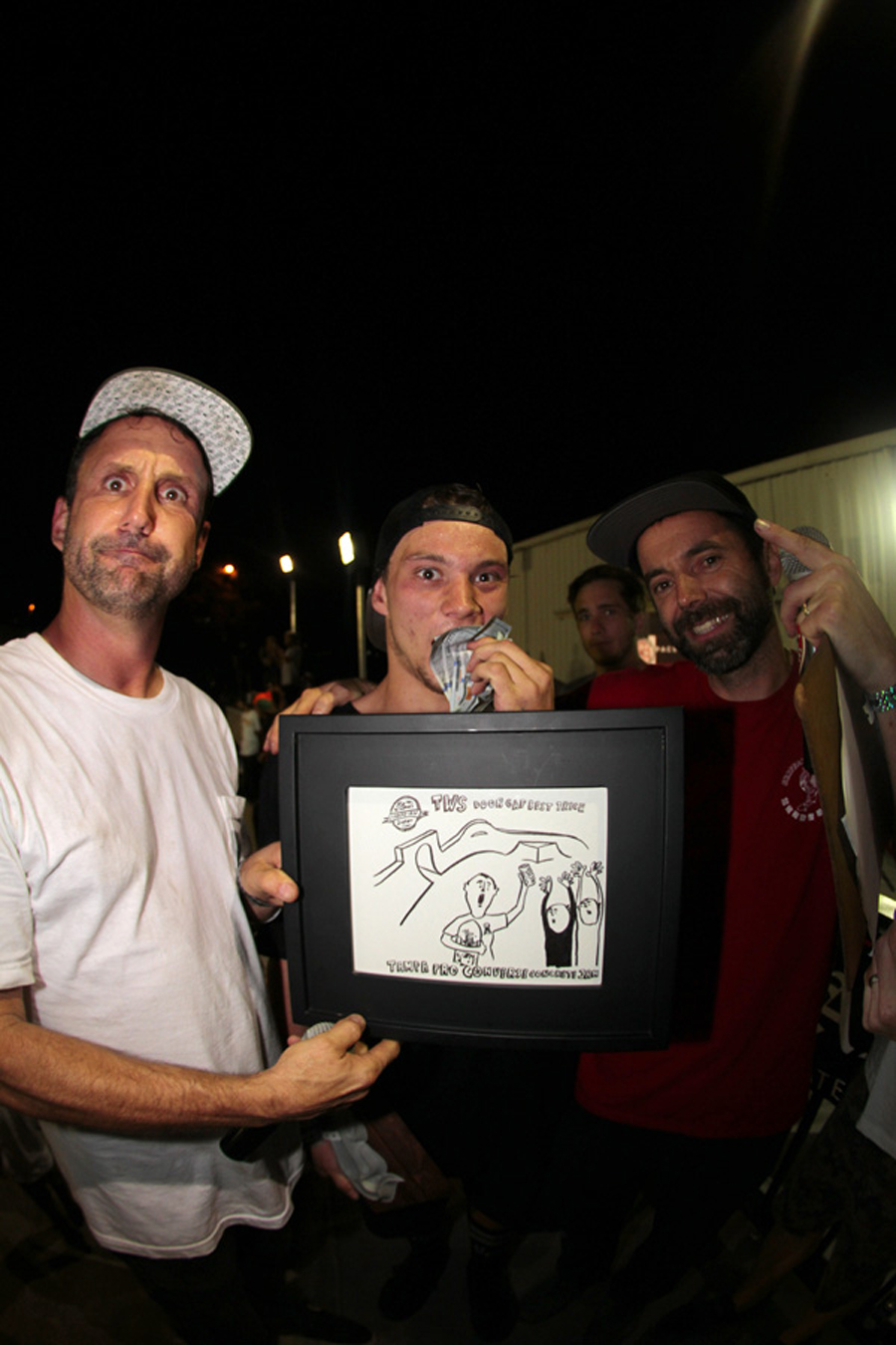 Winner's circle, Jake taking home the cash and shutting down the Converse Concrete Jam.